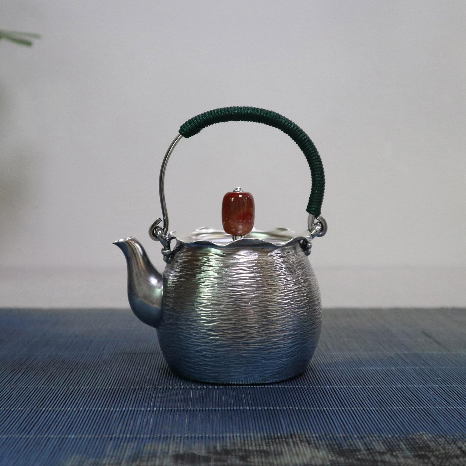 【福袋】 S999纯银手工 茶壶
