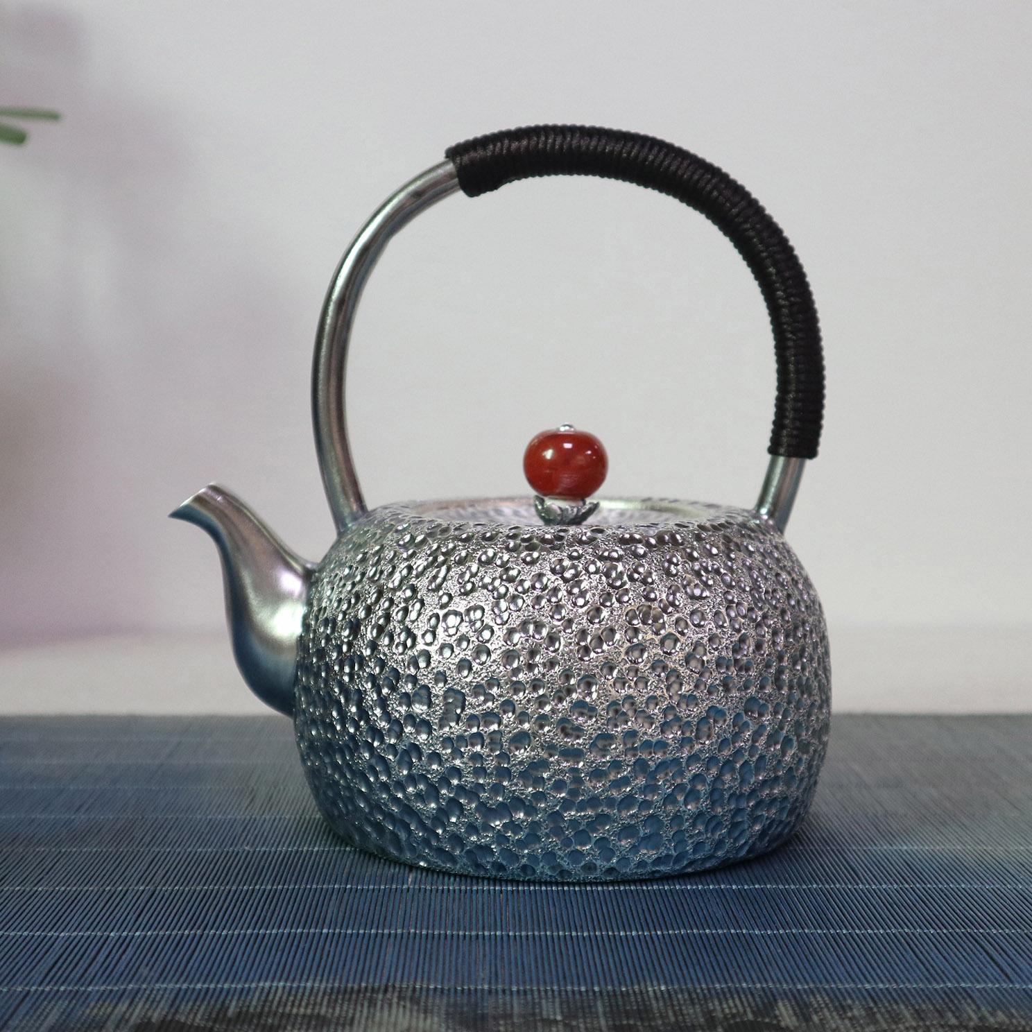 【寒冬腊月】S999纯银手工 烧水壶