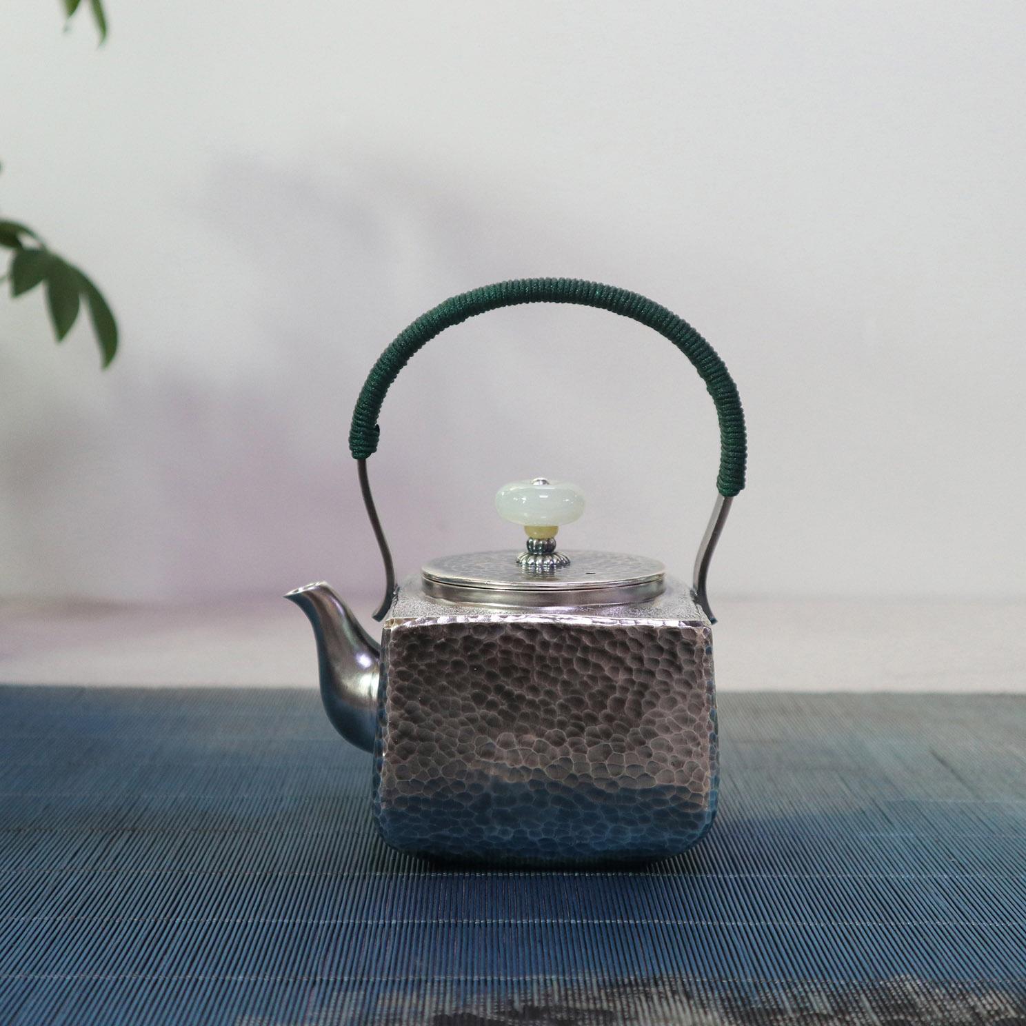 【天圆地方】S999纯银手工 茶壶