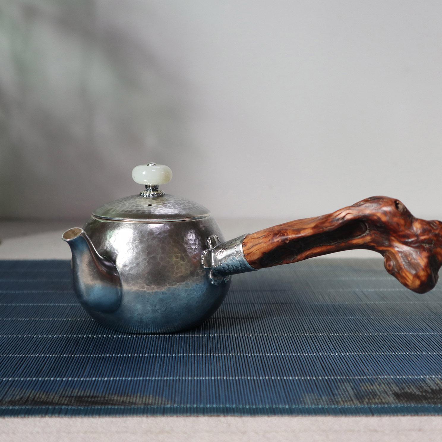 【大度】S999纯银手工 茶壶