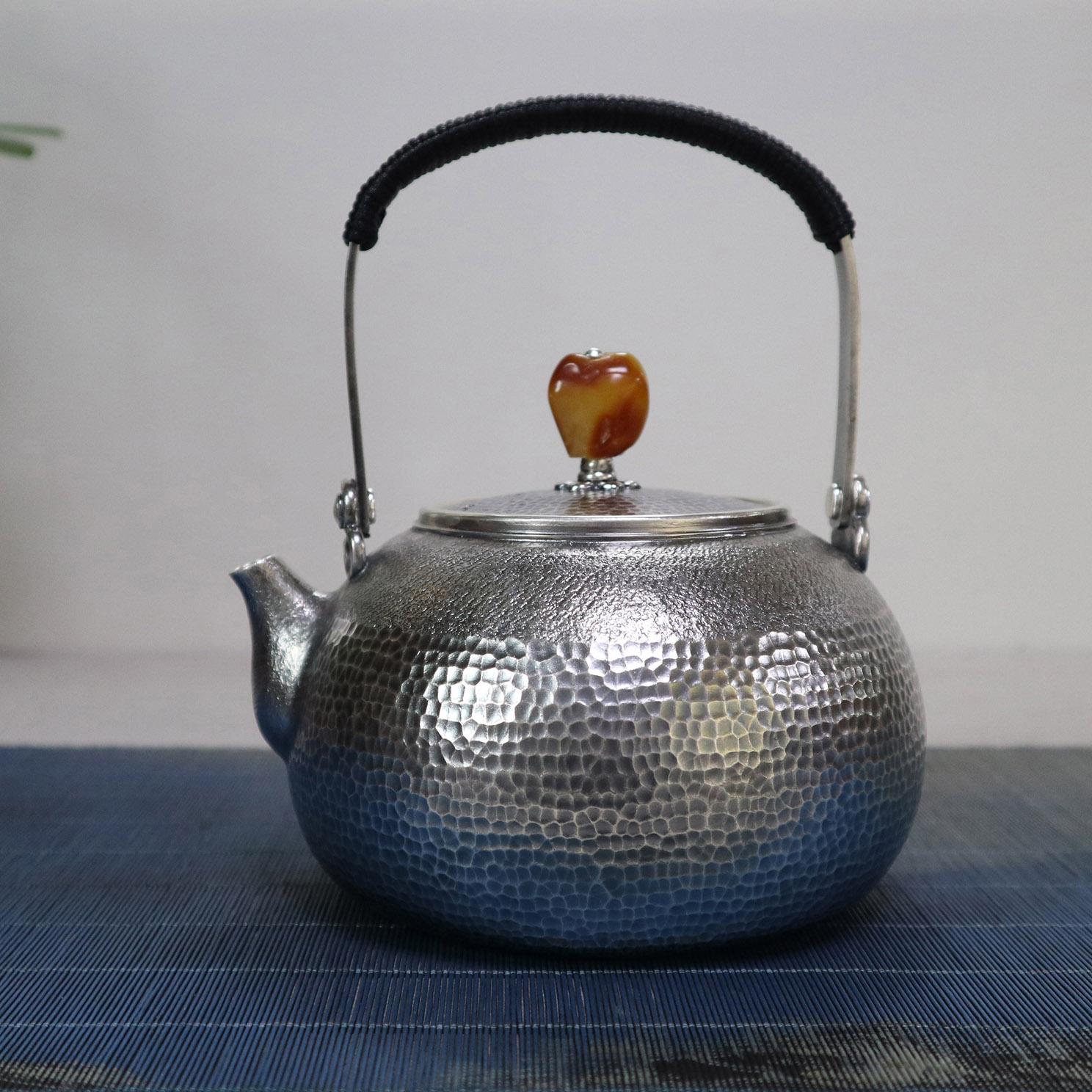 【大度】S999纯银手工 烧水壶