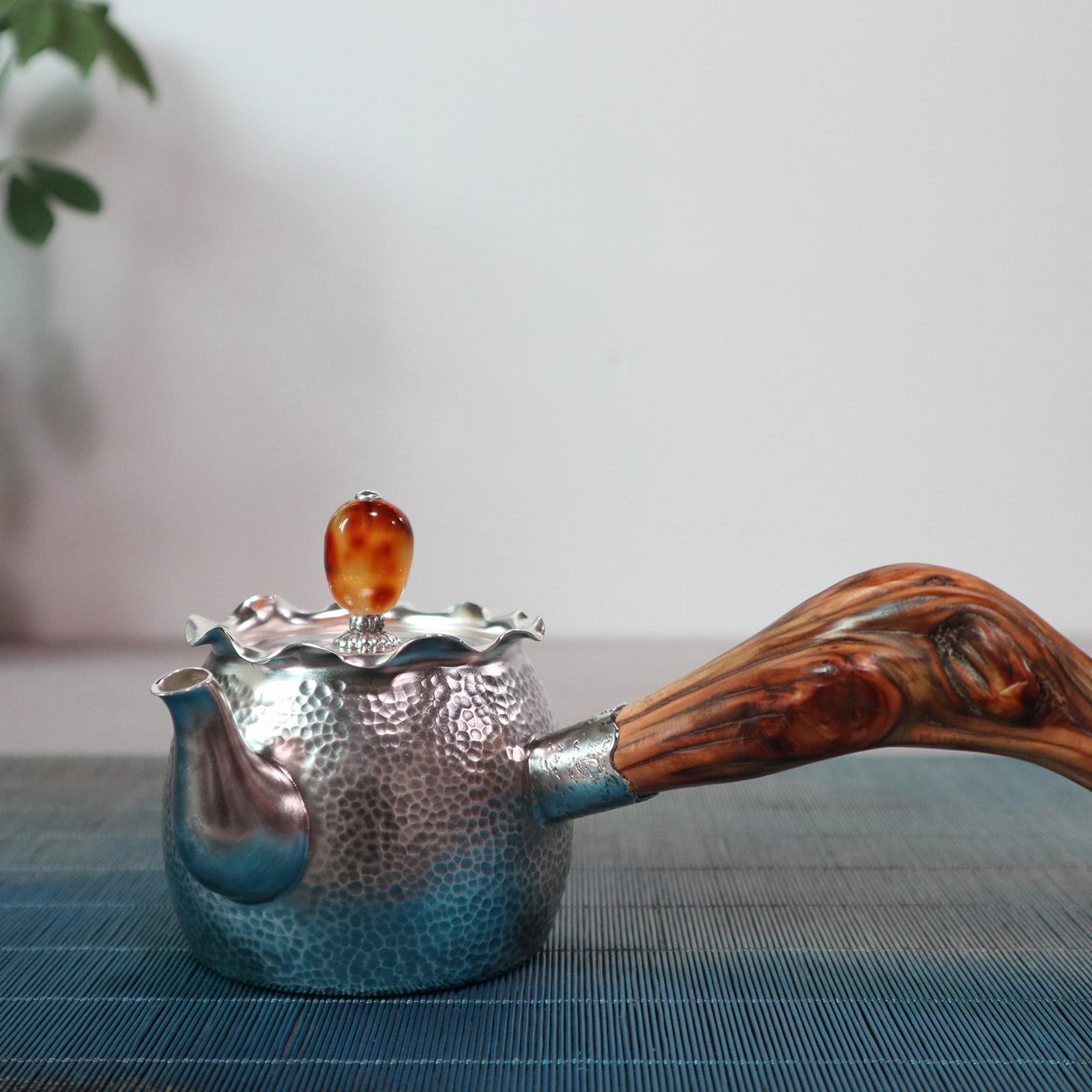 【福袋】S999纯银手工 茶壶
