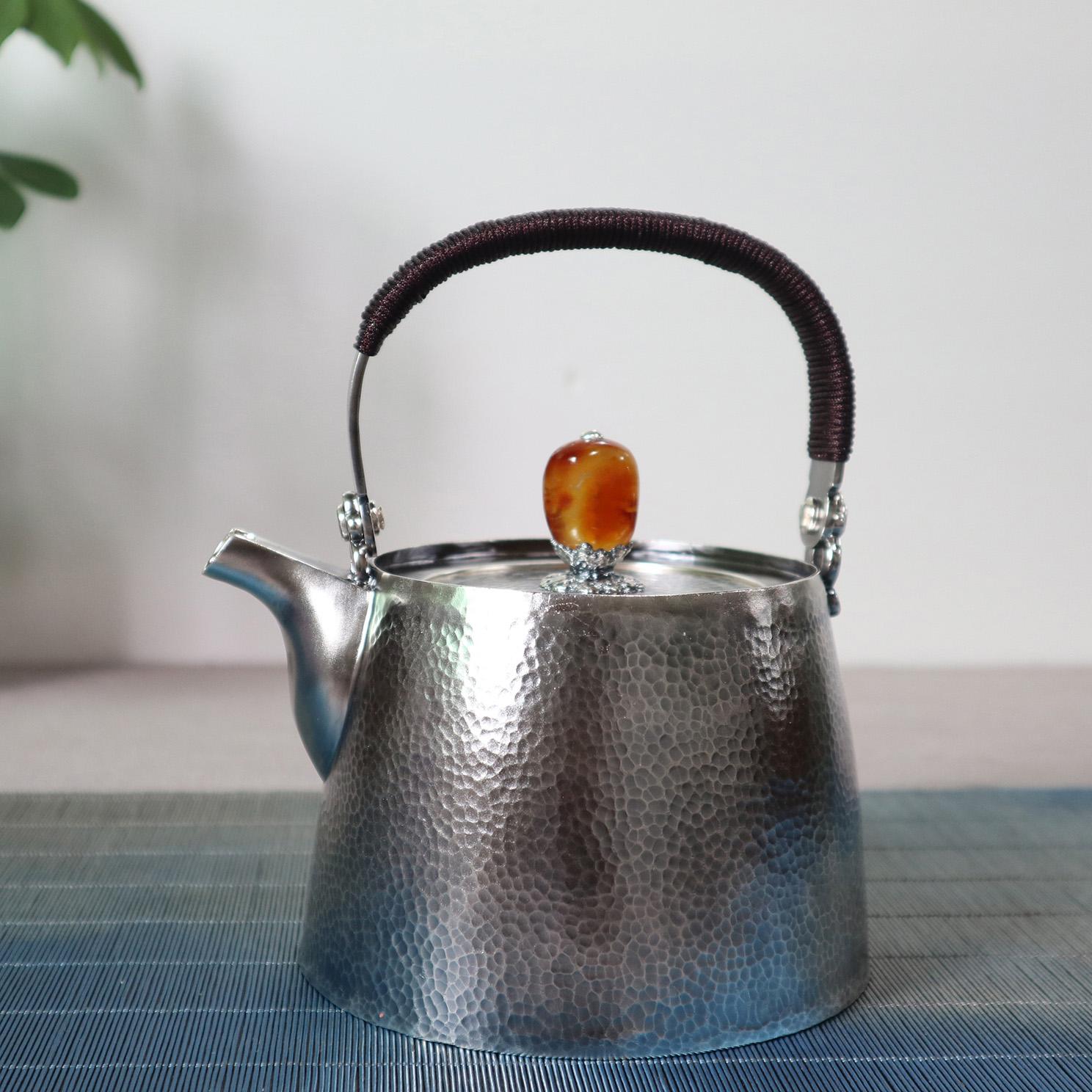 【朴素】S999纯银手工 烧水壶