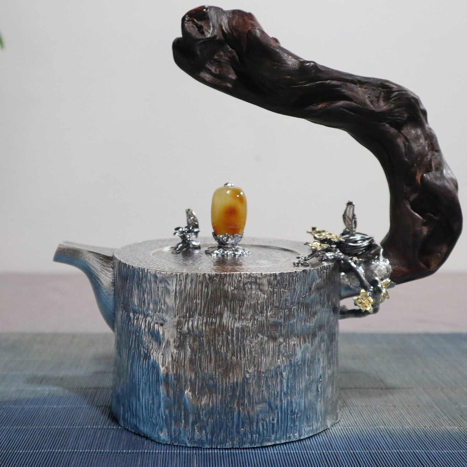 【蜗居】S999纯银手工 烧水壶