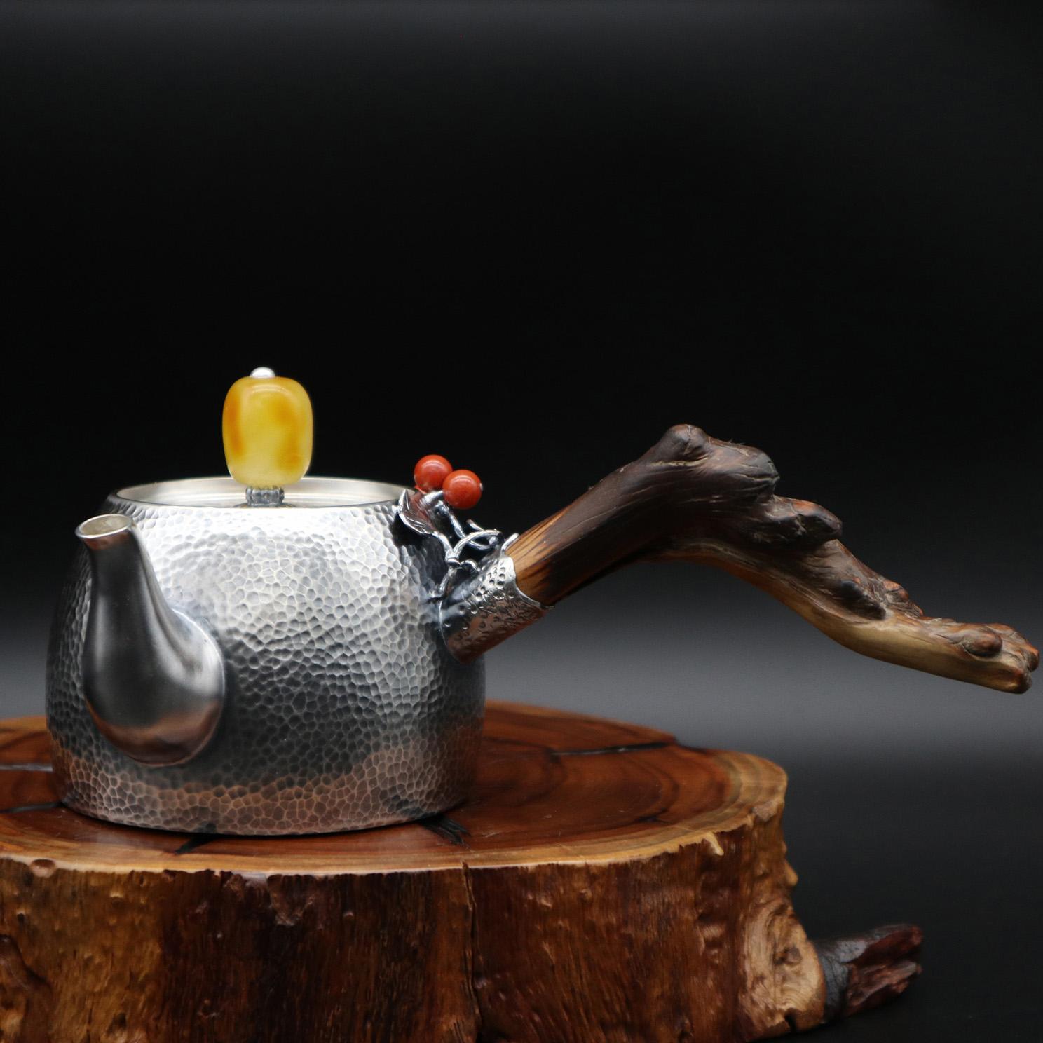 【福祉】S999纯银手工 茶壶