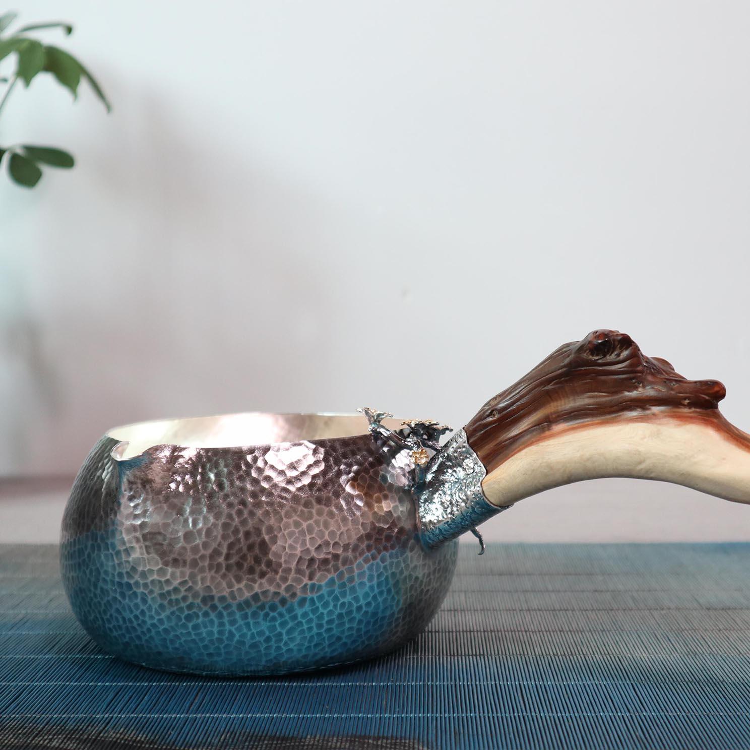 【木棉花】S999纯银手工 煮茶器